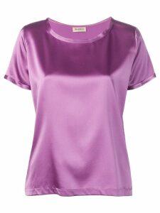 Blanca shortsleeved blouse - Purple
