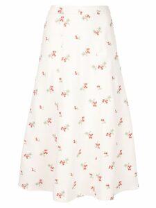 Co floral print skirt - White