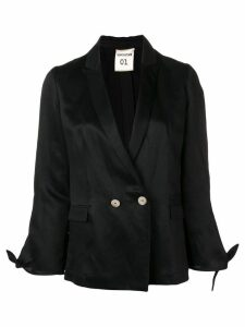 Semicouture knot cuff blazer - Black