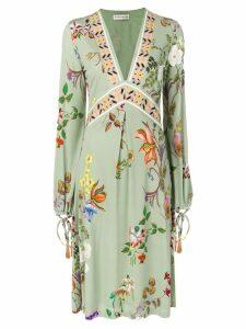 Etro floral print midi dress - Green