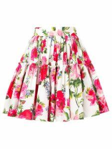 Dolce & Gabbana floral-print skirt - White