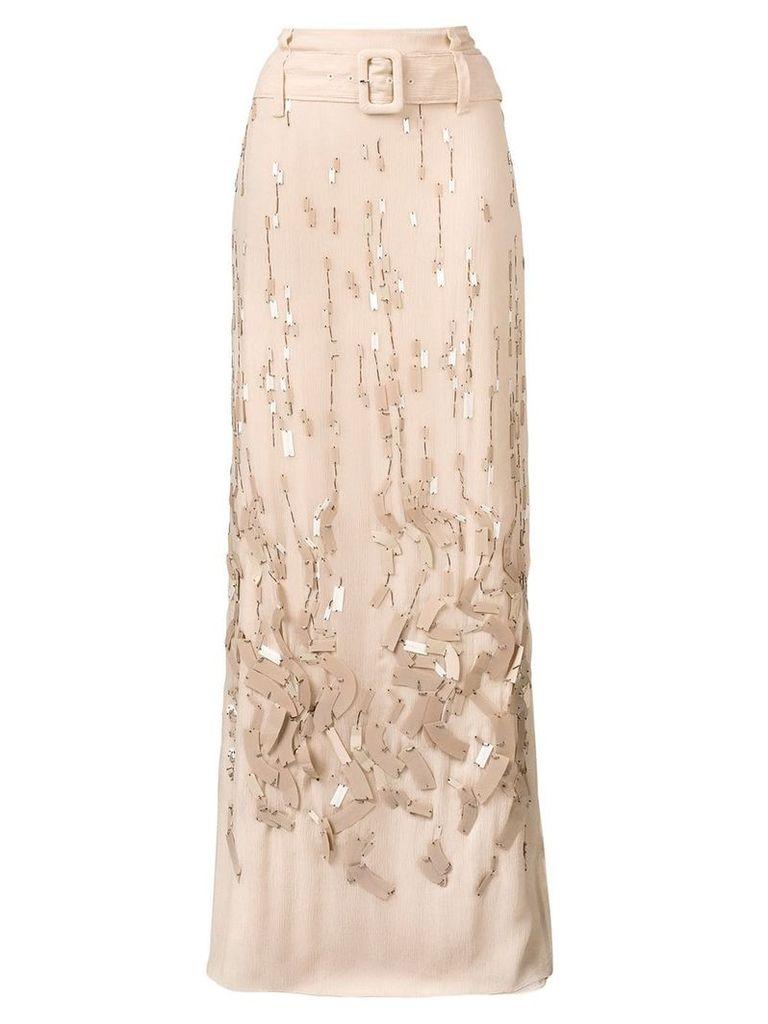 Prada embellished maxi skirt - Neutrals