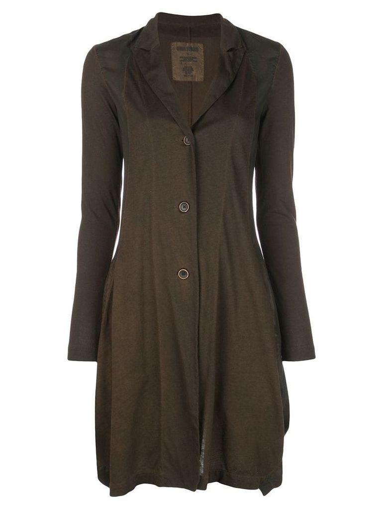 Uma Wang slim fit cardigan coat - Brown