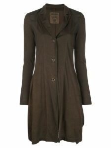 Uma Wang slim fit cardigan coat - Brown