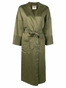 Semicouture oversized kimono - Green