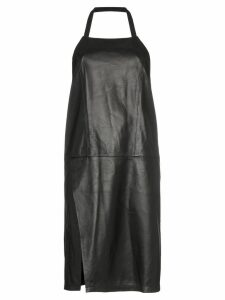 Sandy Liang congee leather halterneck dress - Black