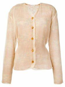 Marni layered knit V-neck cardigan - Neutrals