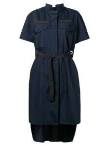 Sacai short-sleeve belted dress - Blue