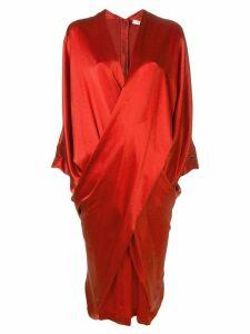 Poiret Infinity draped dress - Red