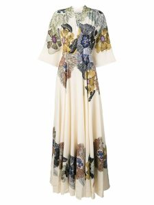 Etro long printed dress - Neutrals