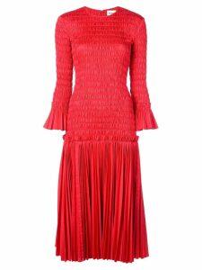Khaite ruched midi dress - Red