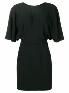 Saint Laurent v-back fitted dress - Black