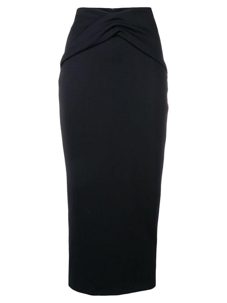 Haider Ackermann ruched detail pencil skirt - Black
