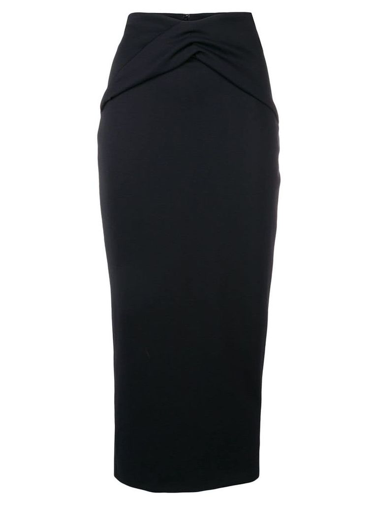 Haider Ackermann ruched detail pencil skirt - Black