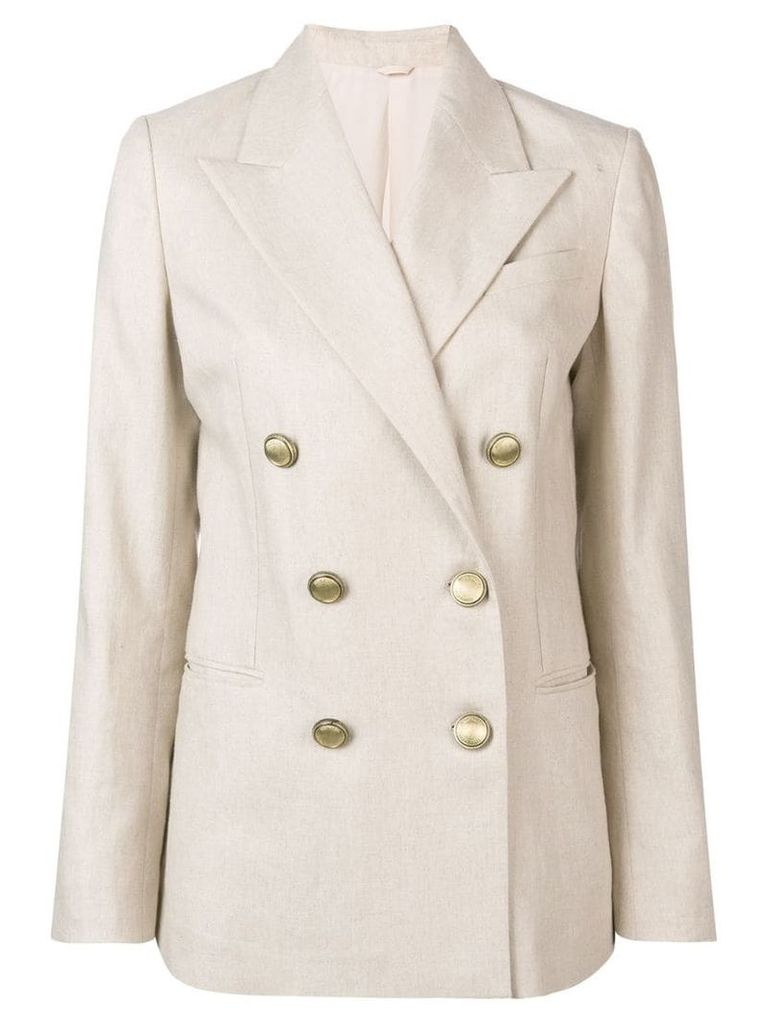 Brunello Cucinelli double breasted blazer - Neutrals