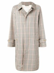 Mackintosh Brown Check Wool Blend Coat GM-113BS/SH/W