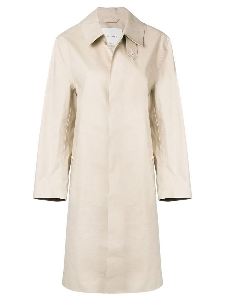 Mackintosh Putty Bonded Cotton Coat LR-089 - Neutrals
