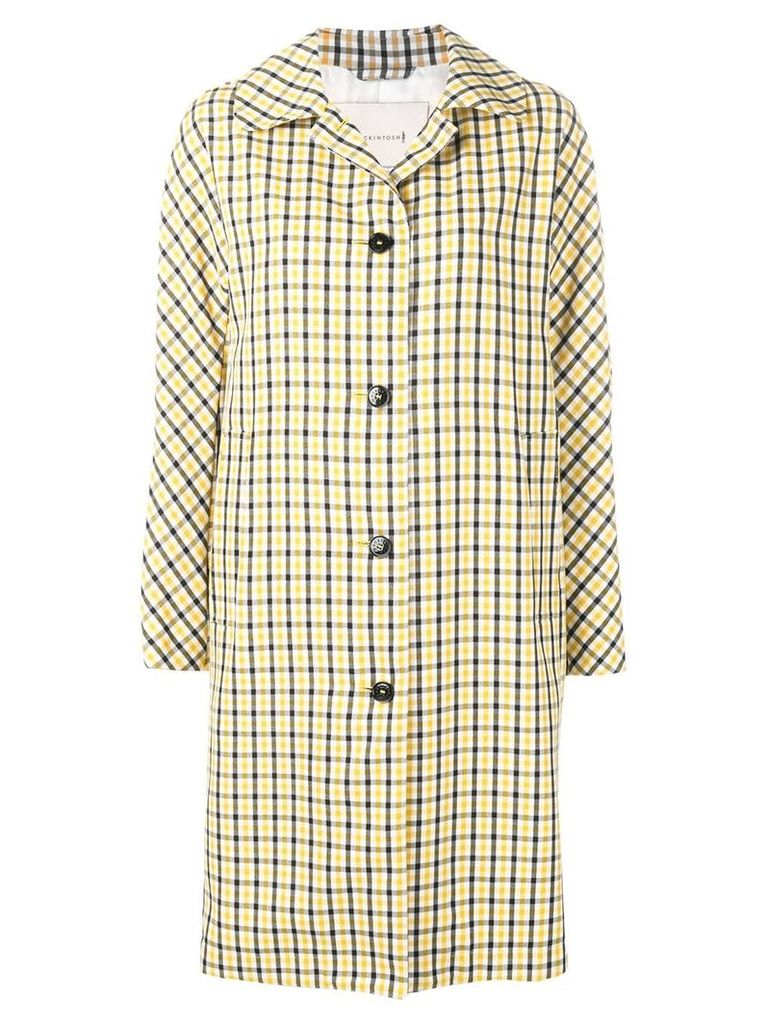 Mackintosh Yellow Check Wool Blend Coat LM-079BS