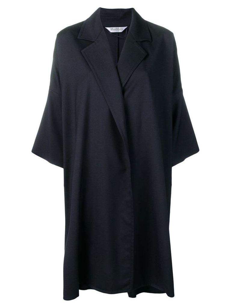 Max Mara oversized open front coat - Blue