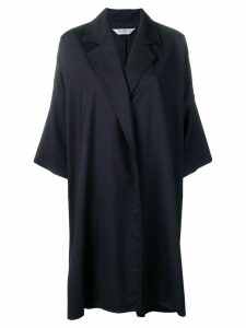 Max Mara oversized open front coat - Blue