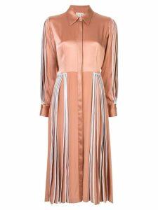 Bodice Studio pleated shirt dress - Pink