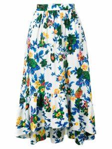 MSGM floral midi skirt - White