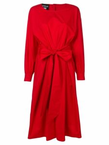 Boutique Moschino belted midi dress - Red