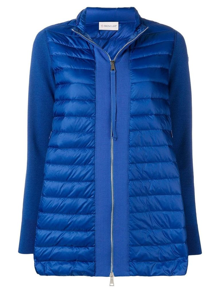 Moncler full-zipped padded coat - Blue