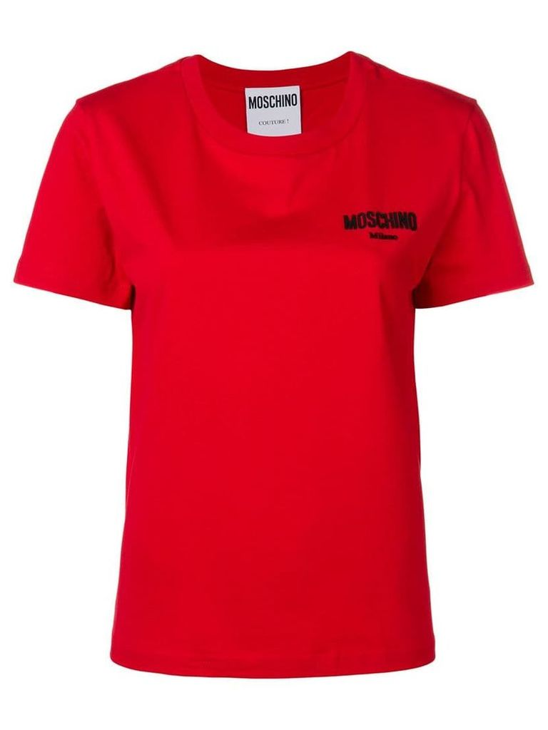 Moschino logo crew neck T-shirt - Red
