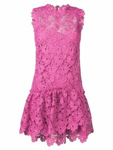 Ermanno Scervino floral lace ruffled dress - Pink