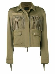 Diesel Black Gold tonal fringed jacket - Green