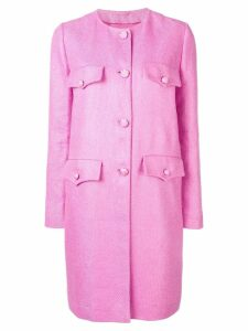 Ermanno Scervino single breasted midi coat - Pink