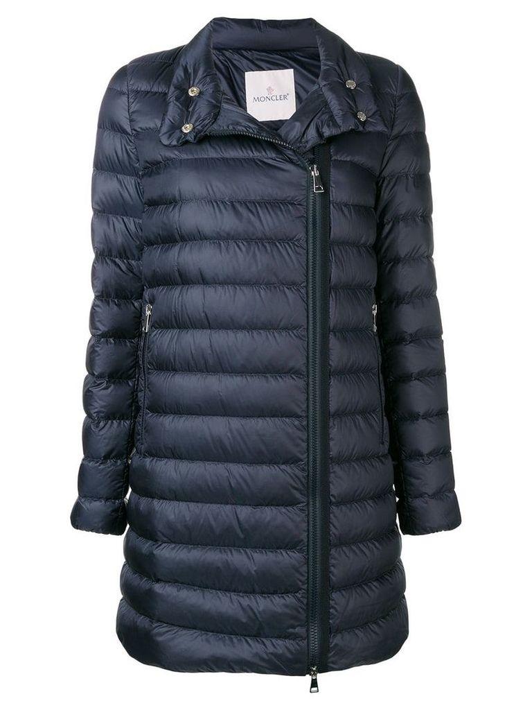 Moncler zipped padded coat - Blue