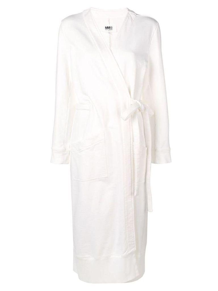Mm6 Maison Margiela belted coat - White