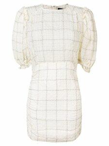 Isabel Marant check print mini dress - Neutrals