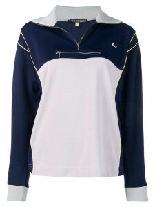 Alexa Chung two-tone tracksuit top - Blue