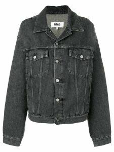 Mm6 Maison Margiela convertible sleeve denim jacket - Black