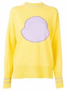 Moncler logo print sweatshirt - Yellow
