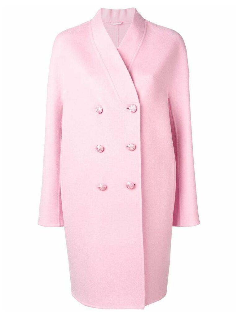 Ermanno Scervino double breasted midi coat - Pink