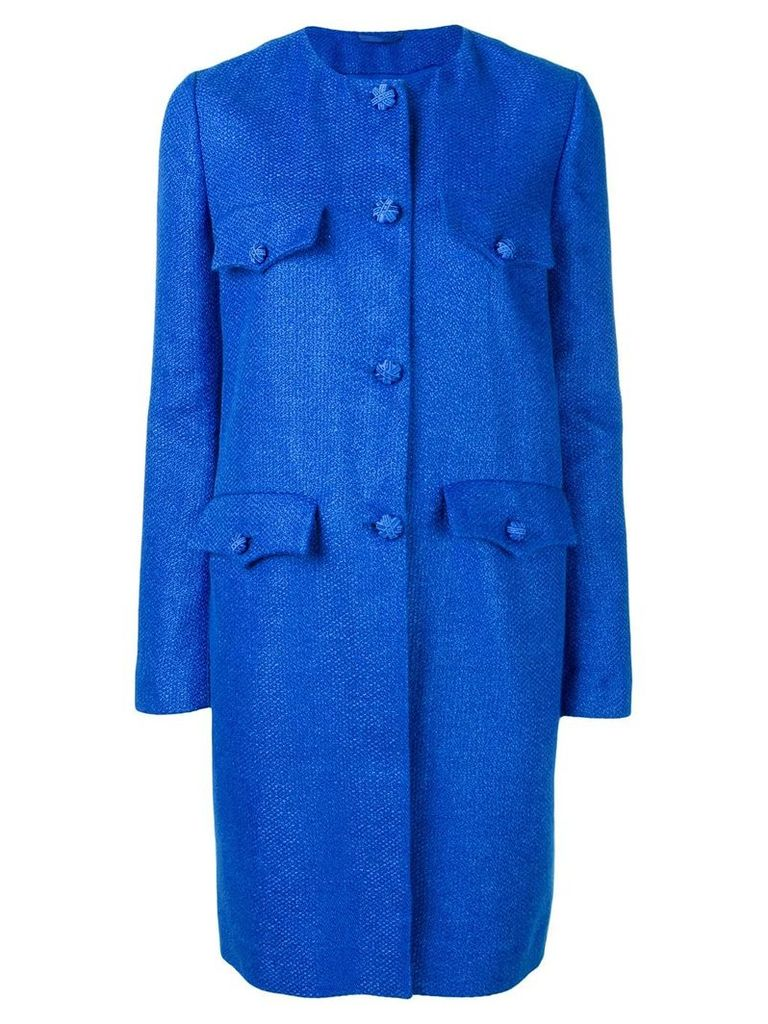 Ermanno Scervino single breasted midi coat - Blue