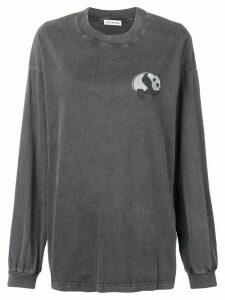 Balenciaga long sleeve panda T-shirt - Black