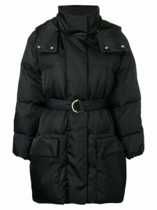 Stella McCartney belted padded coat - Black