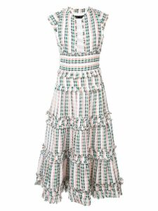 Proenza Schouler Textured Tweed Tiered Dress - White