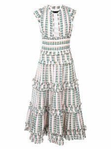 Proenza Schouler Textured Tweed Tiered Dress - White