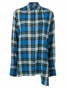 Rokh oversized plaid shirt - Blue