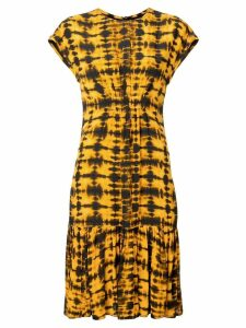 Proenza Schouler Tie Dye Short Sleeve Dress - Yellow