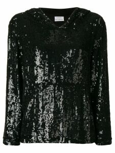 P.A.R.O.S.H. oversized sequinned hoodie - Black