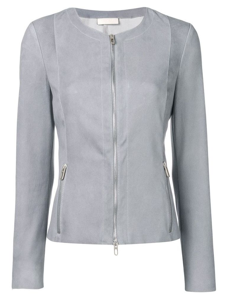 Drome fitted leather jacket - Blue