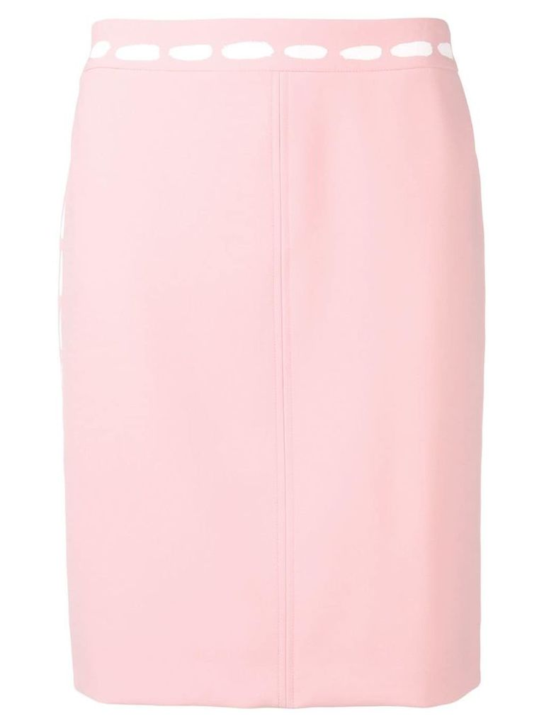 Moschino straight fit skirt - Pink