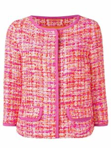 Herno short tweed jacket - Pink